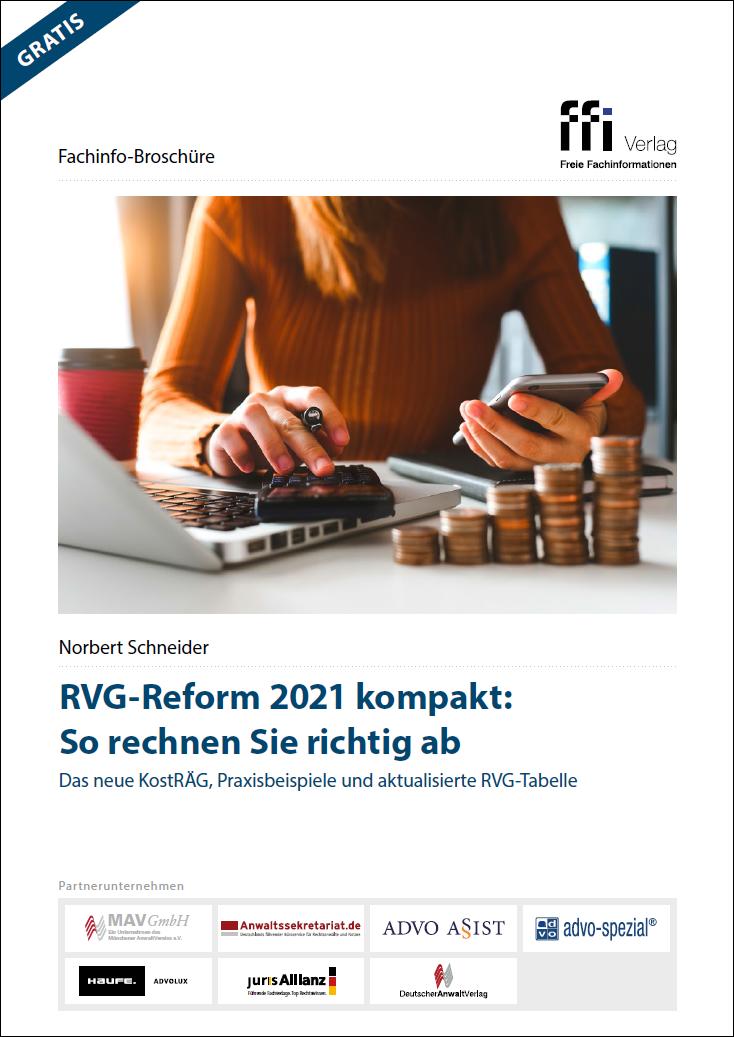 RVG-Reform 2021 kompakt
